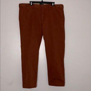 J Crew Always Red Oarsman Pants 484 Slim 40 / 30